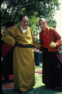 Dudjom Rinpoche and Gyatrul Rinpoche