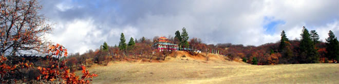 Picture of temple on a hill
